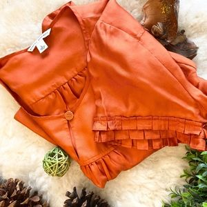 NWOT SKILK ORANGE BANANA REPUBLIC BABYDOLL TOP